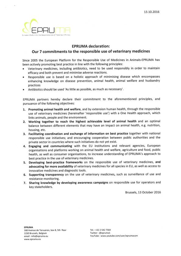 EPRUMA declaration cover