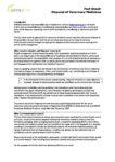 Fact sheet: Pharmaceutical Waste Disposal